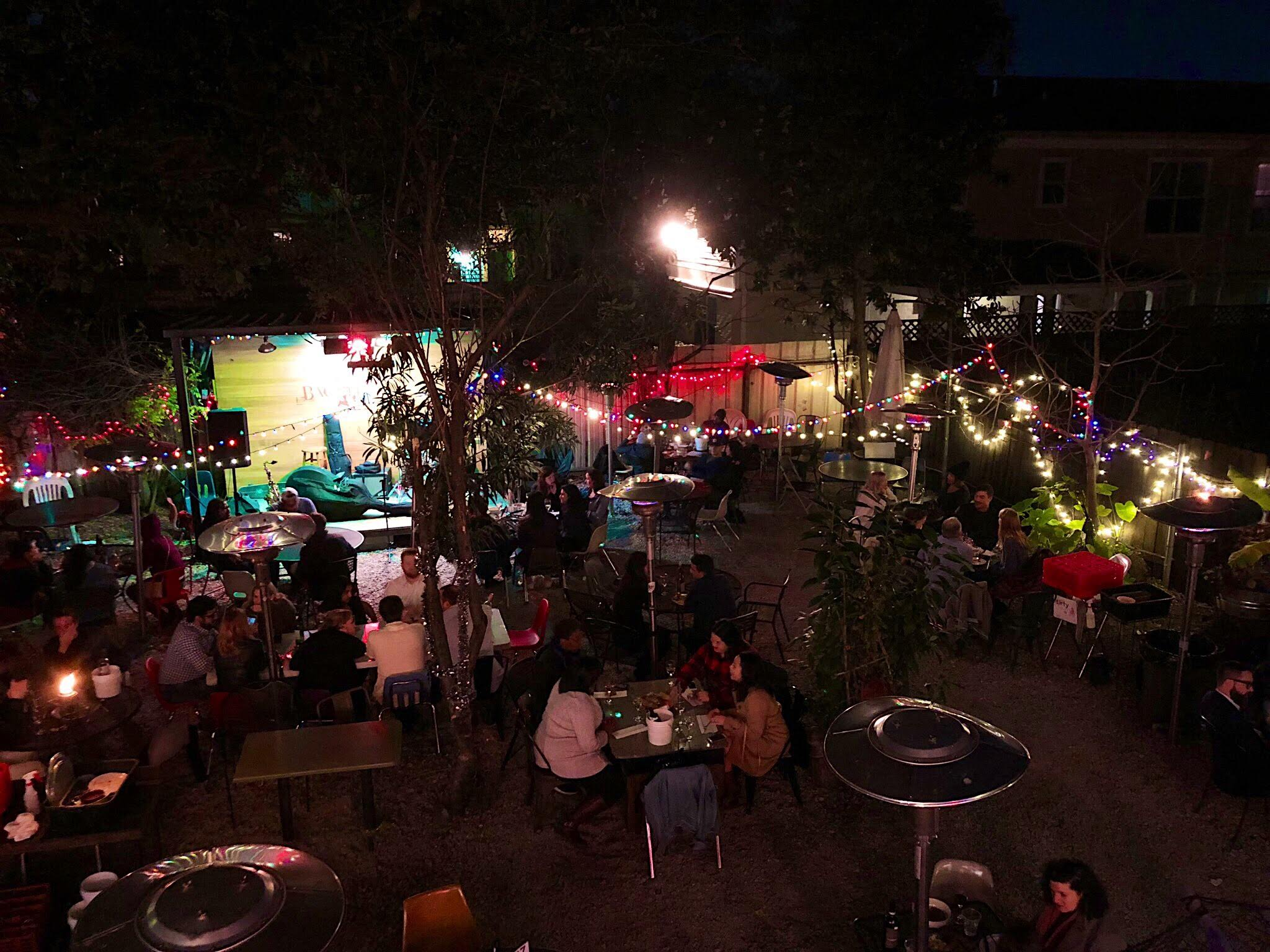 The dreamy courtyard at Bacchanal (Photo by the lovely My)