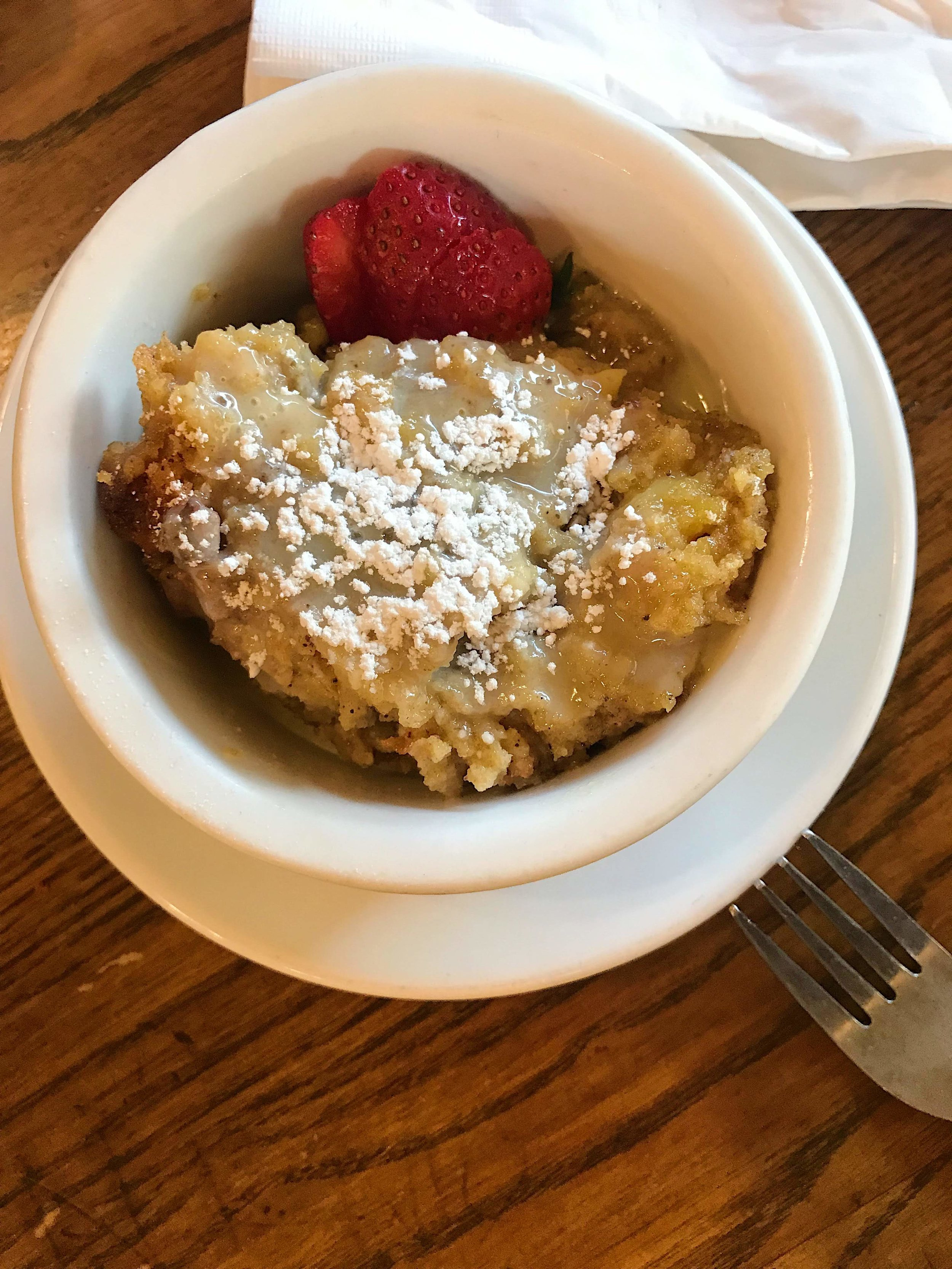 The epitome of bread pudding at Wilie Mae's
