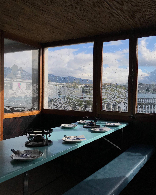 A quiet La Buvette before fondue hours