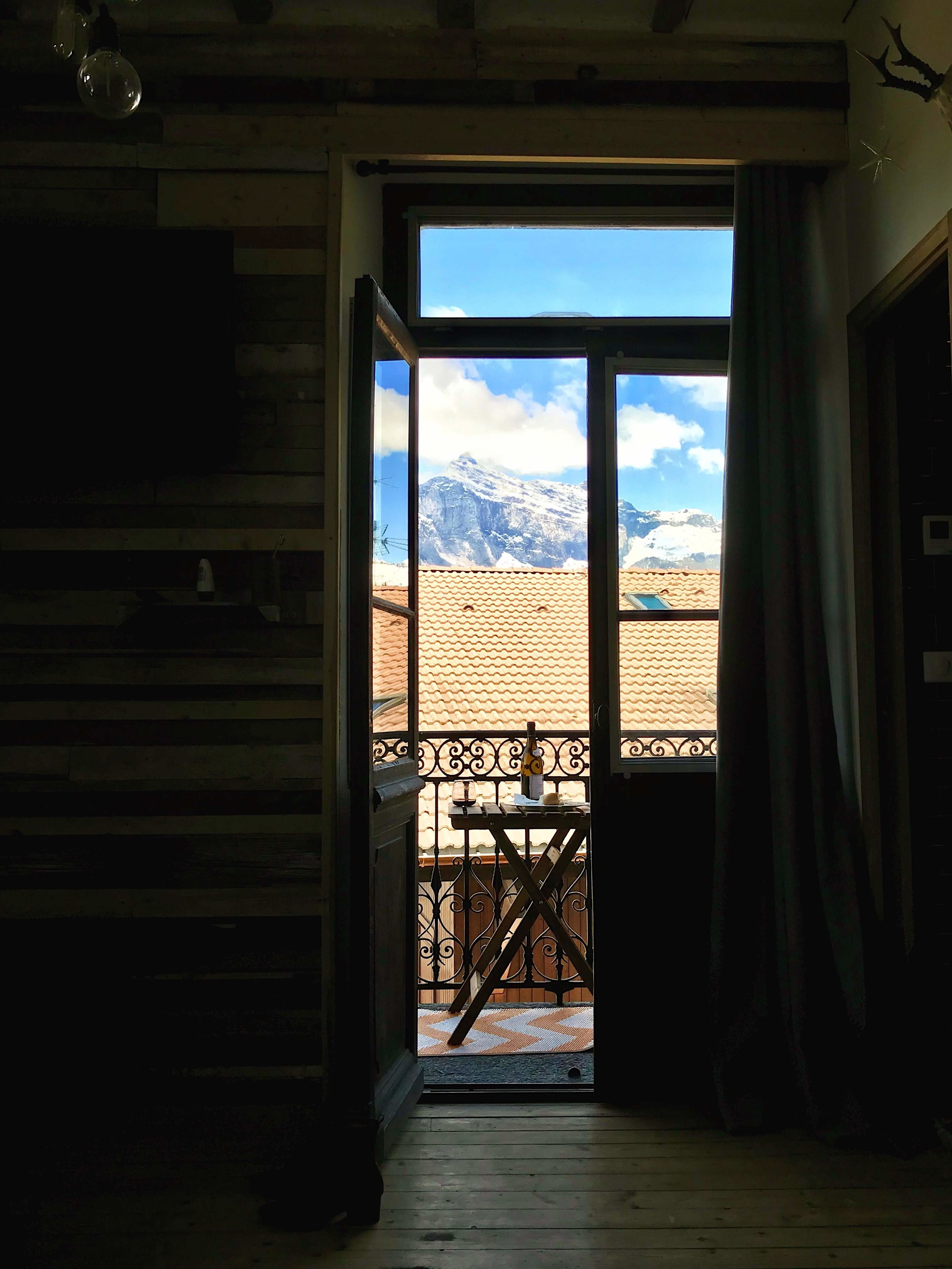 View from the patio in Saint Gervais