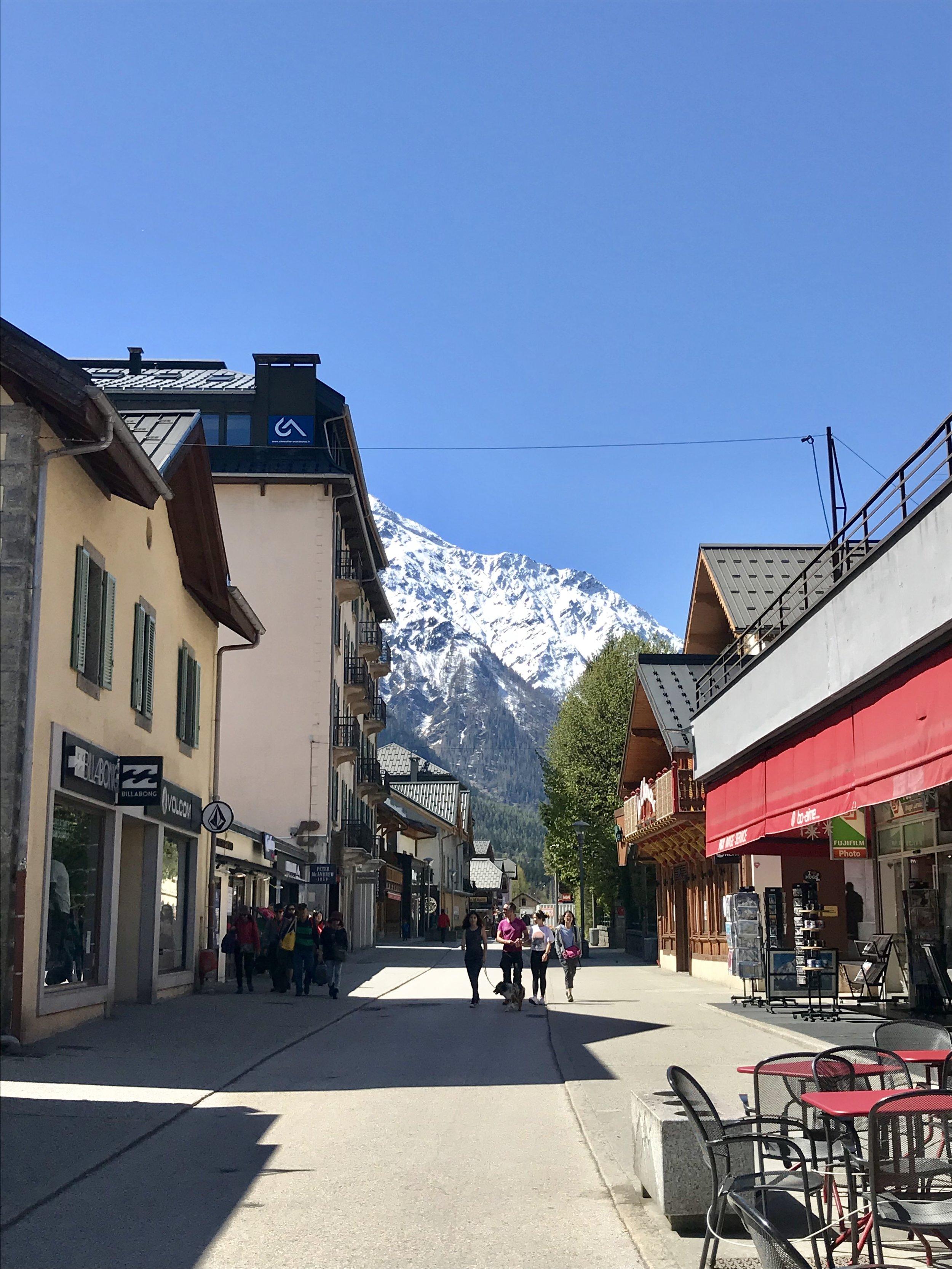 The charming ski town of Chamonix, France