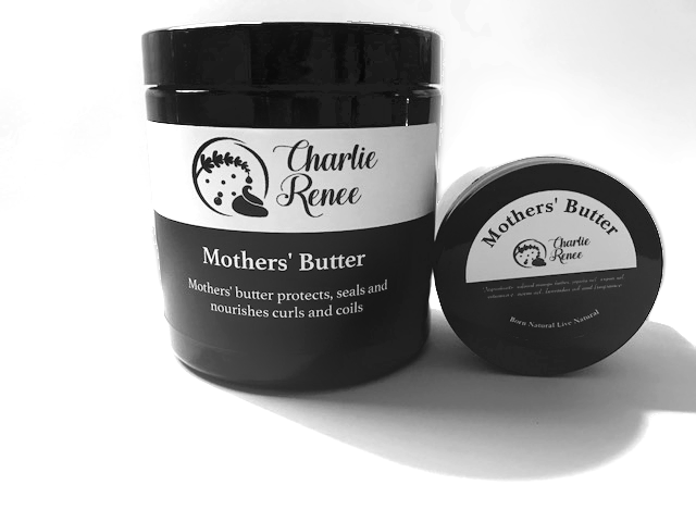Mothers' butter - This whipped mango butter will protect, seal and nourish curls, coils and body.  You will enjoy the creamy and spreadable butter as it seals the moisture into your hair and body.  Mothers' Butter is made using natural ingredients and fragrances.