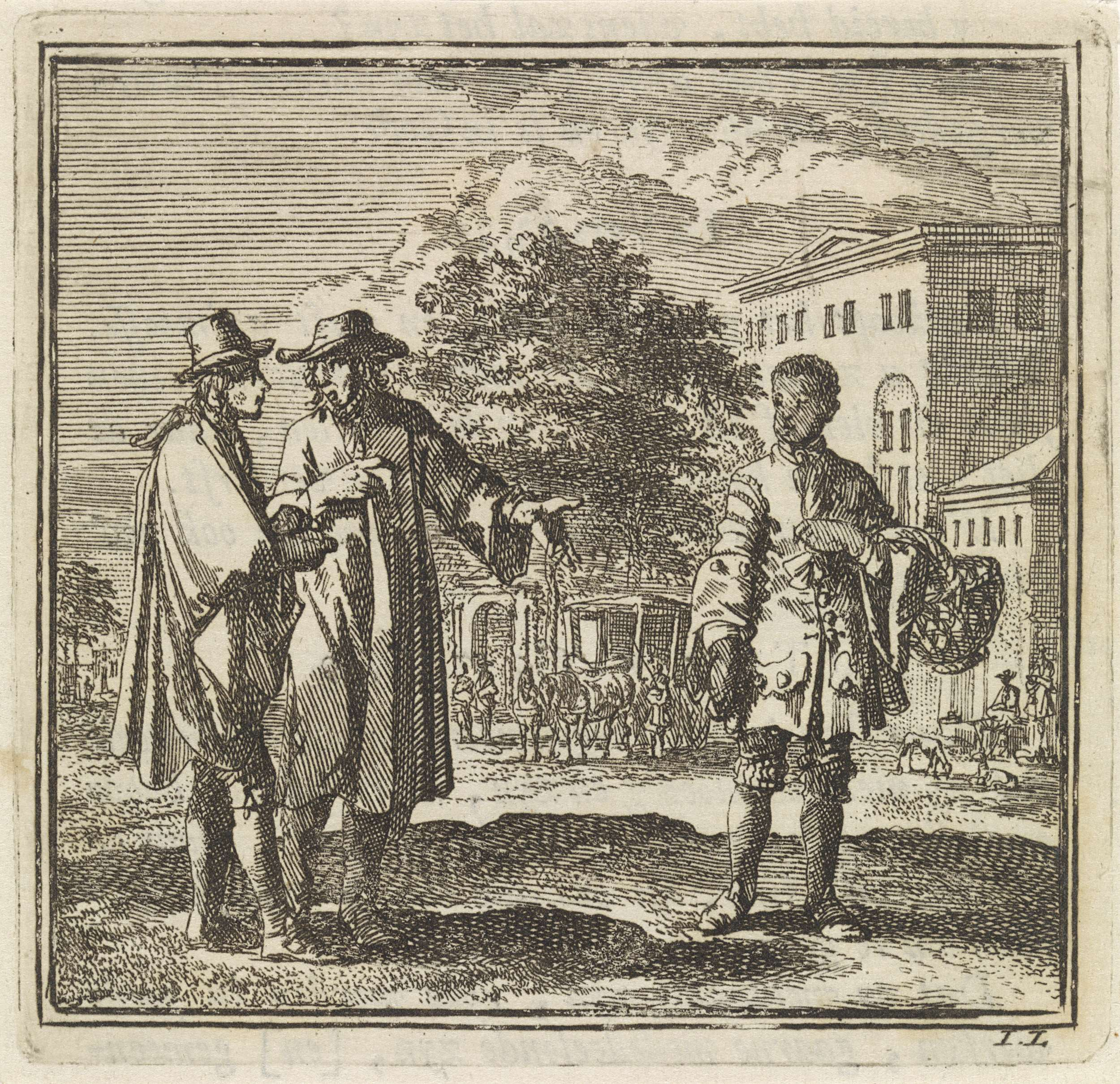 Two men pointing at boy by Jan Luyken, c. 1711, courtesy of the Rijksmuseum, Amsterdam