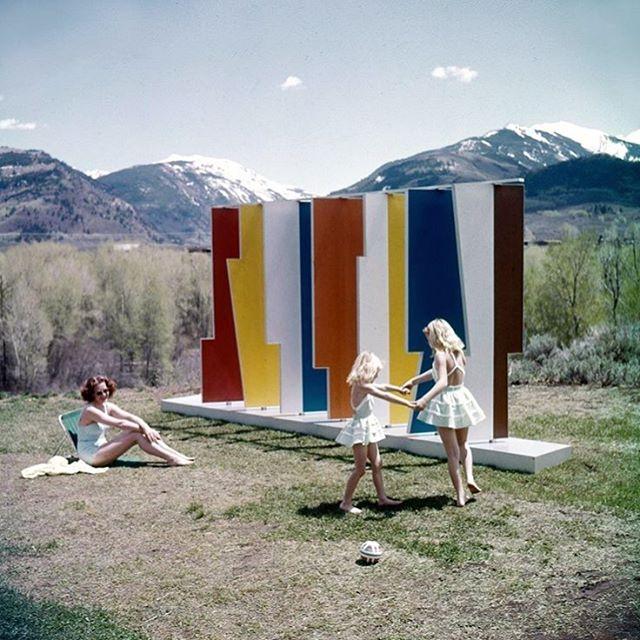 Kaleidoscreen by Herbert Bayer, Aspen 1957.