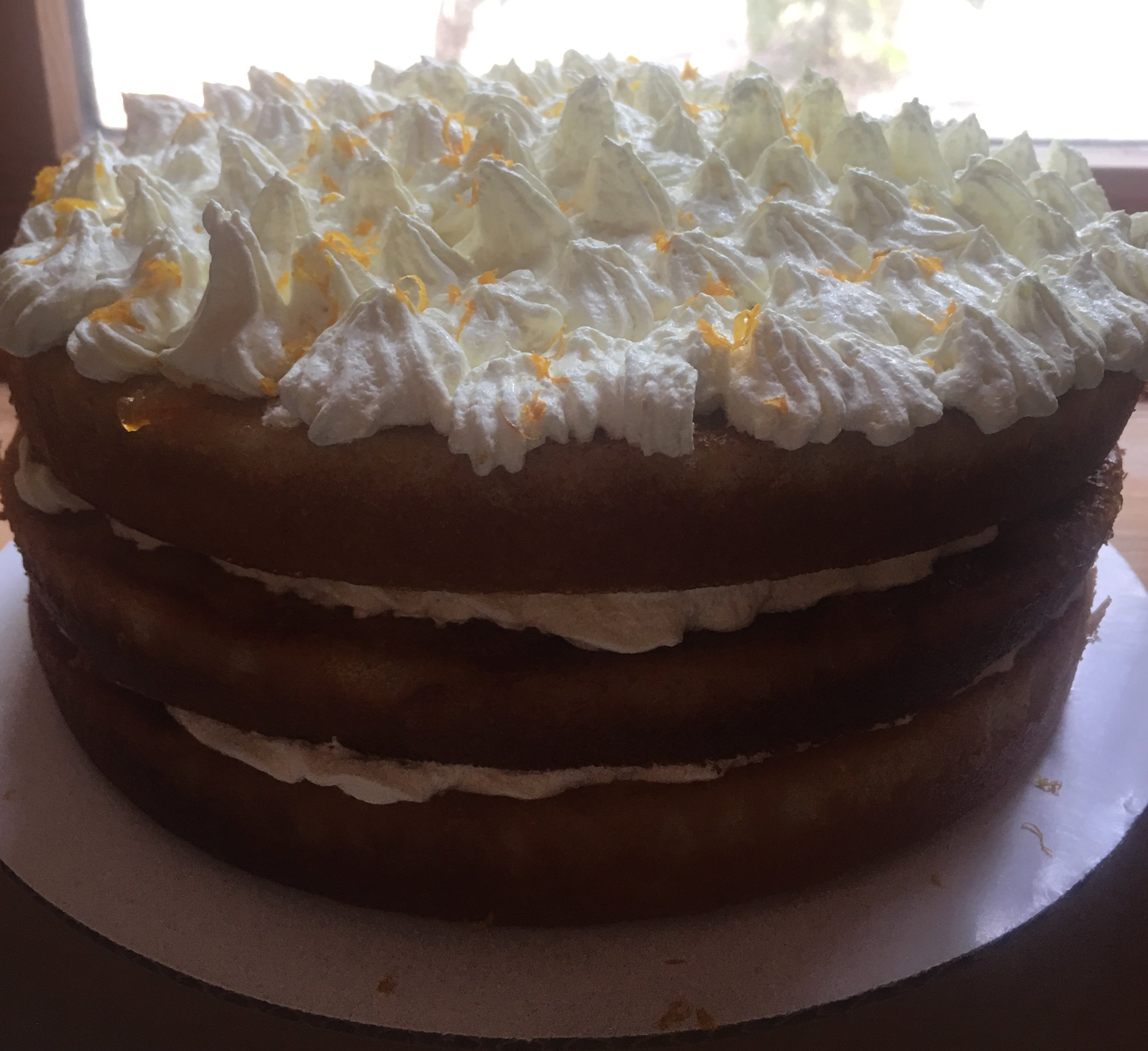ORANGE MARMALADE CAKE WITH ORANGE SWISS BUTTERCREAM