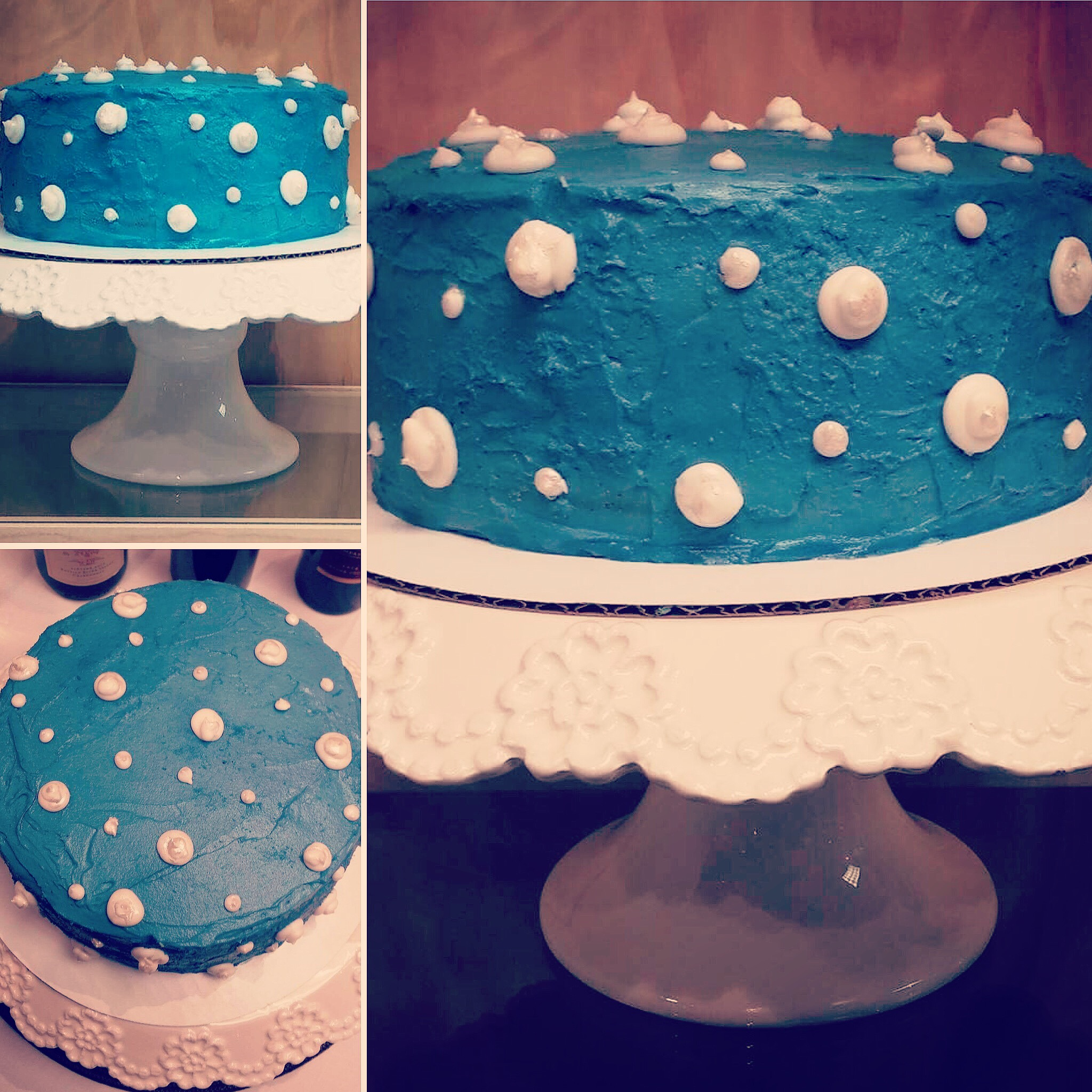 CUSTOM COLOR ALMOND CAKE WITH VANILLA BUTTERCREAM