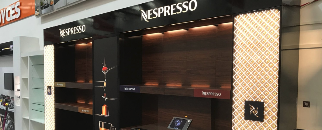 NESPRESSO SHOP RE FIT - Working with our partners to re fit Nespresso stores across the UK.