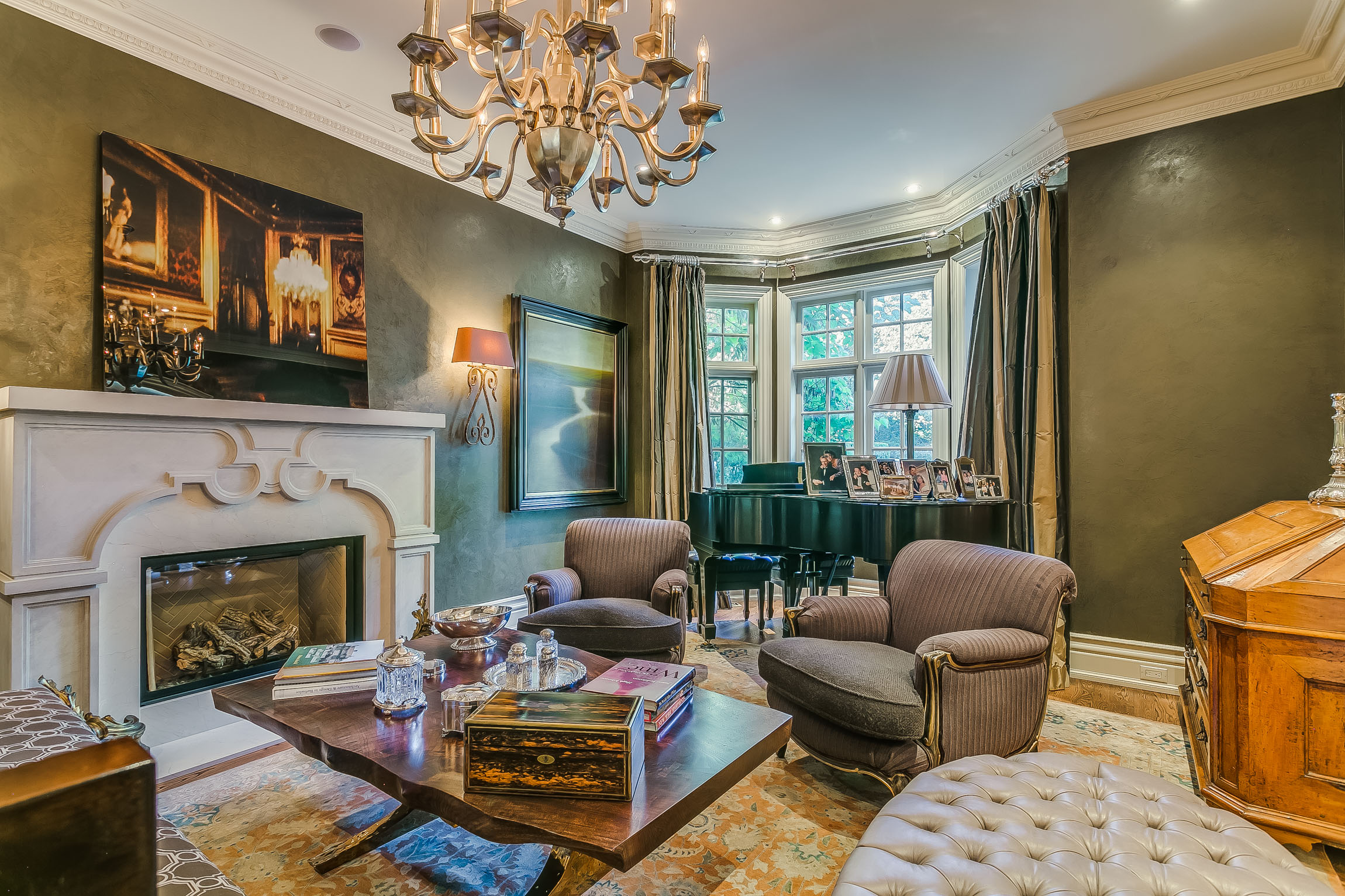living space - Beginning With The Mahogany Rich Office; Finished With a Warm Fireplace, To The Spectacular Details Lining Both The Dining and Living Rooms, Every Space Has a Purpose. A Family Inspired Home, This House Is Also Ideal For Entertaining Large Events & Intimate Dinner Parties.