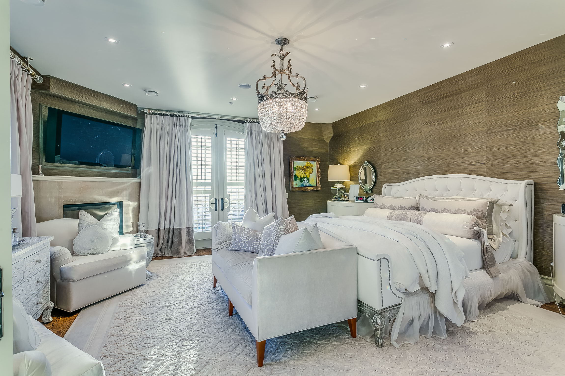 the bedroom - Five Generous Sized, Private Bedrooms, Are The Perfect Retreat From The Magnificent Main Floor. Step Into the Master Suite Through Double Doors and an Ante Room, and Be Prepared To Feel Like Royalty.