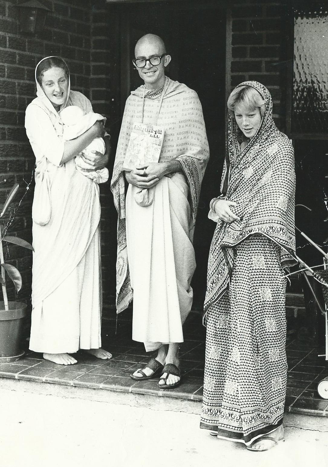 Glenda on the right as a Hare Krishna