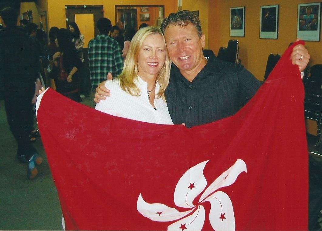 Rob and Glenda in Hong Kong in 2004