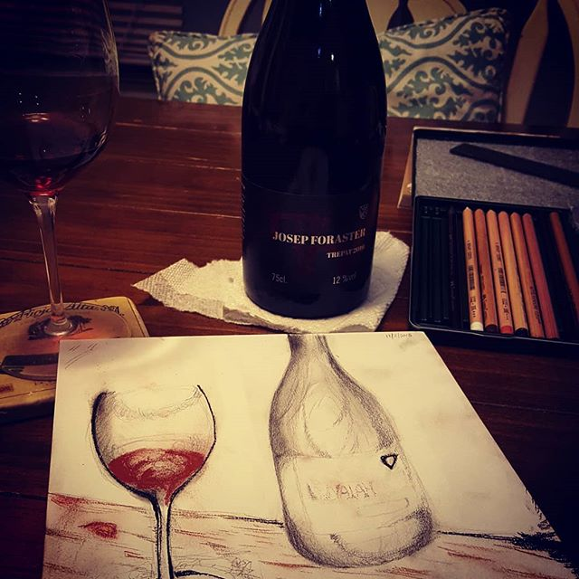 Thursday night I was reminded of how important and fun art is #sketchbook #drawing #art #wine #jazz #music @ripewineimports @iamcasandratressler