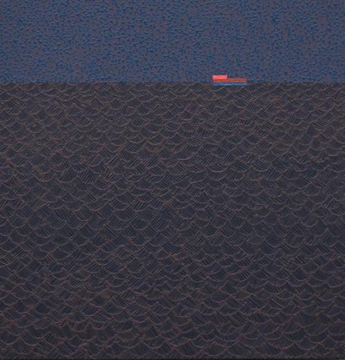 "NIGHT BARGE   Acrylic on canvas, 46x48"", 2015"