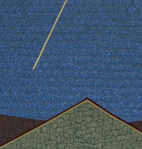 "STARGAZERS   Acrylic on canvas, 46x48"", 2015"
