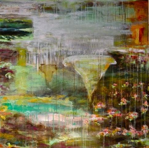 "VAS   fresco secco on canvas, 36""x 36"" , 2015"