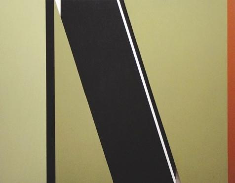 "NO 3 - CONSTRUCTION 556   Acrylic on Wood - 22""H x 28""W x 1 1/4""D"