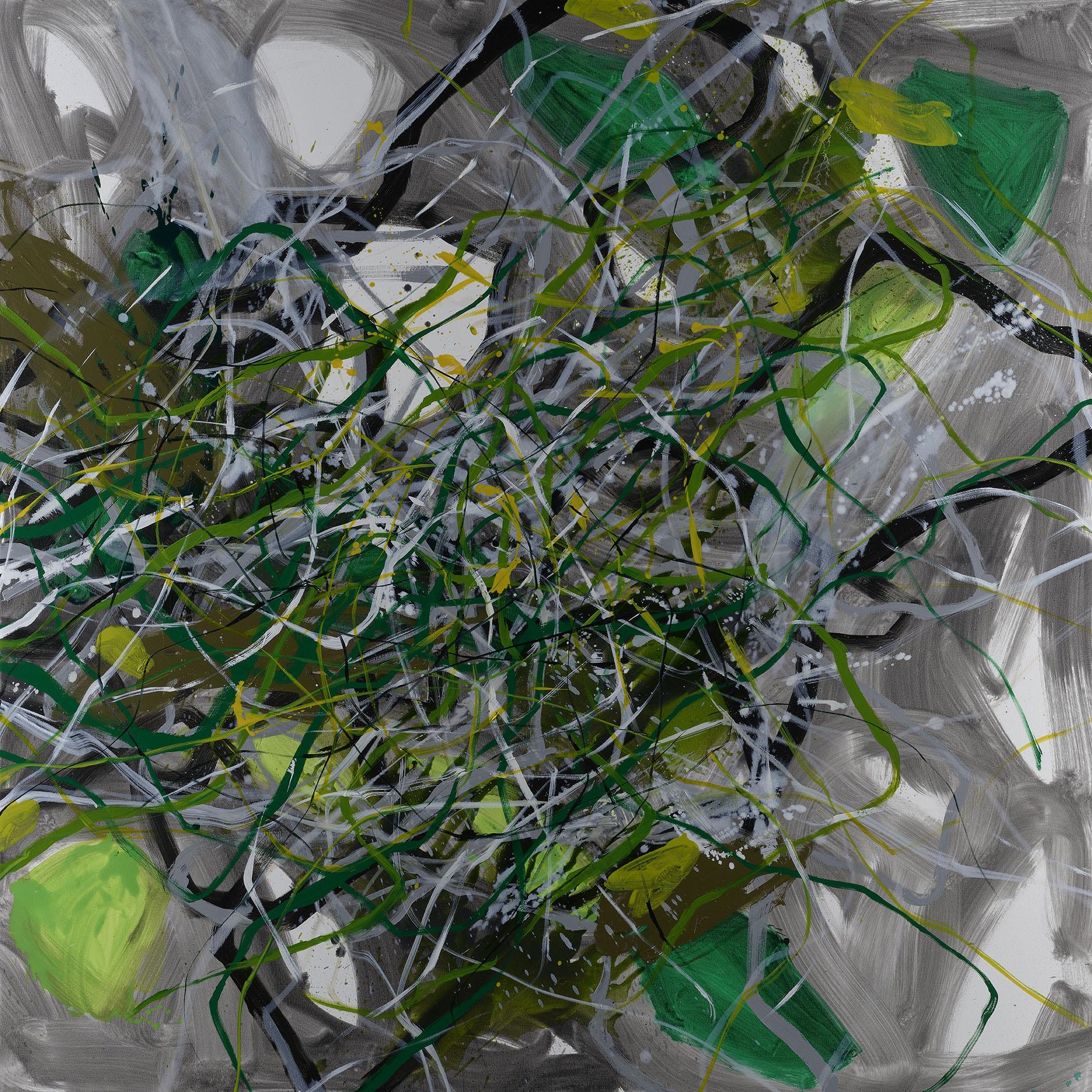 LOOM   Oil on canvas, 183 x 183 cm.