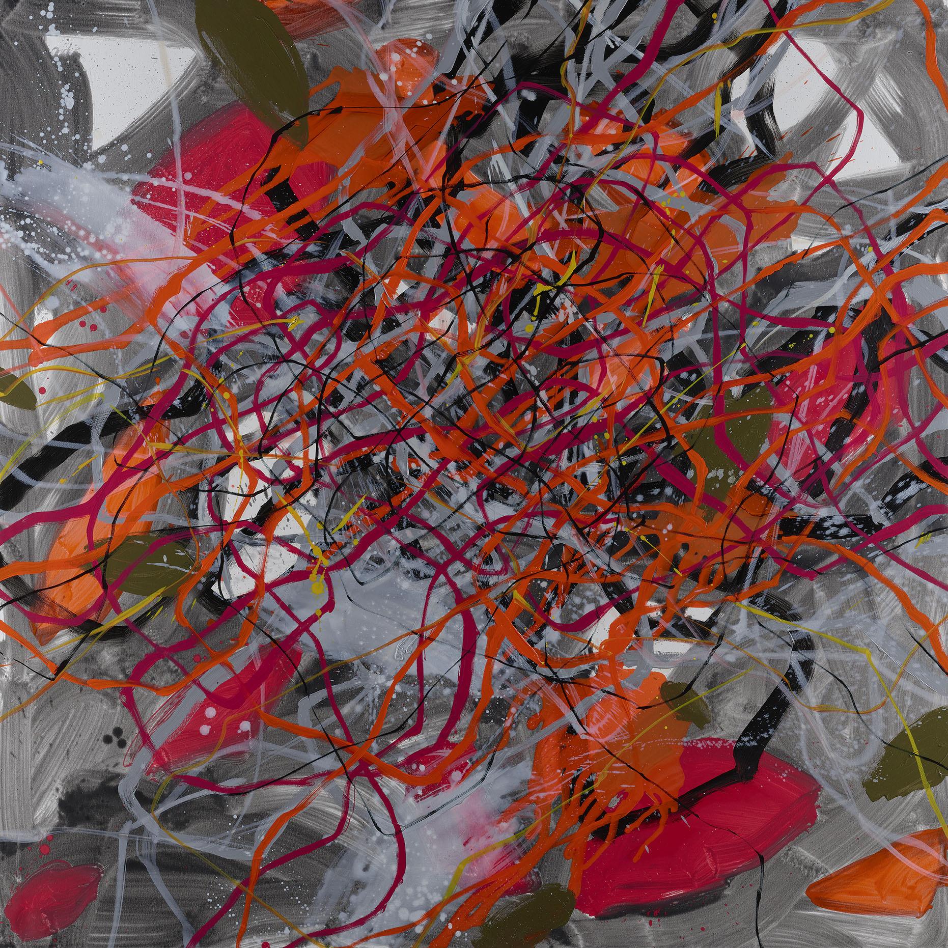 RUPTURE   Oil on canvas, 183 x 183 cm.