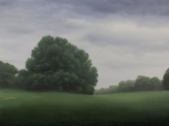 "MORNING IN THE PARK   Oil on linen, 36"" x 48"" 2018"