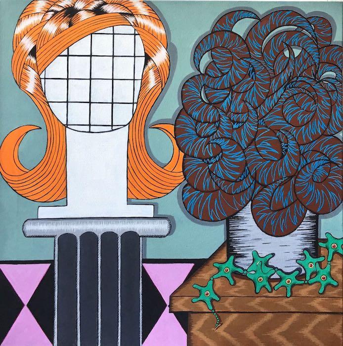 "BELLA DONNA   Acrylic on canvas, 24"" x 24"" 2018"