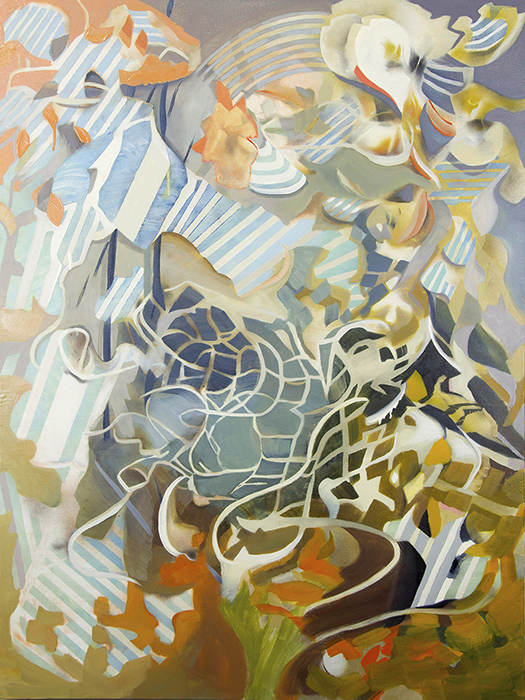 "RAVEL   Oil and acrylic on canvas, 48"" x 36"" 2019"