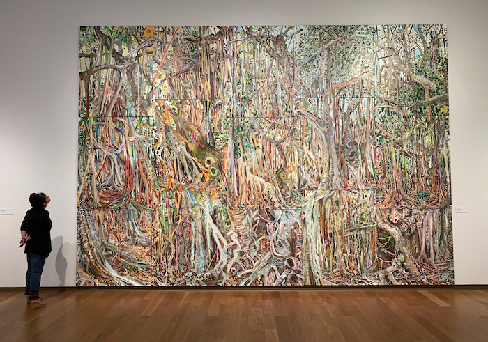 FLUID PERCEPTIONS: BANYAN AS METAPHOR   Oil on canvas, 14' H x 20' W (fifteen individual panels-each painted on-site), 2015-2019