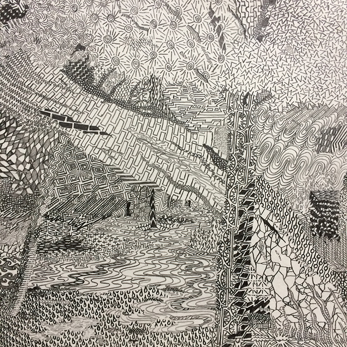 "ARCH 7   Graphite on paper, 7"" x 7"" 2019"