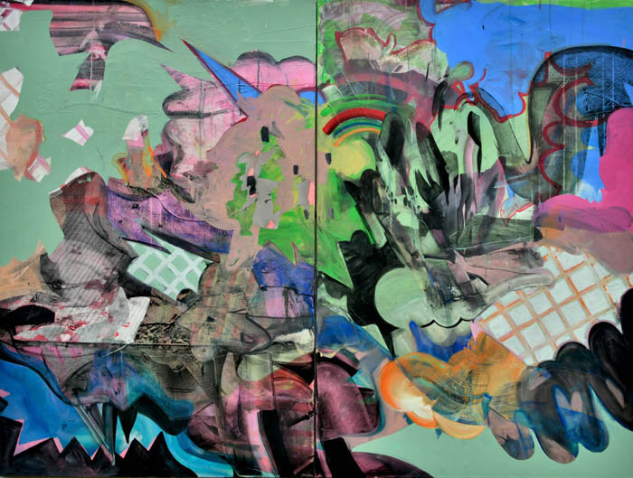 ALL I EVER WANTED   Mixed media on canvas, 150 x 200 cm, 2018