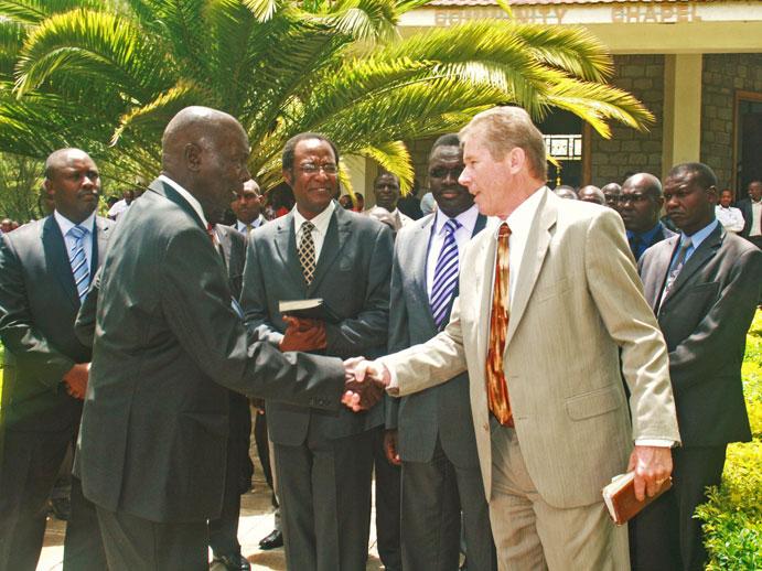 John and former President Daniel Moi