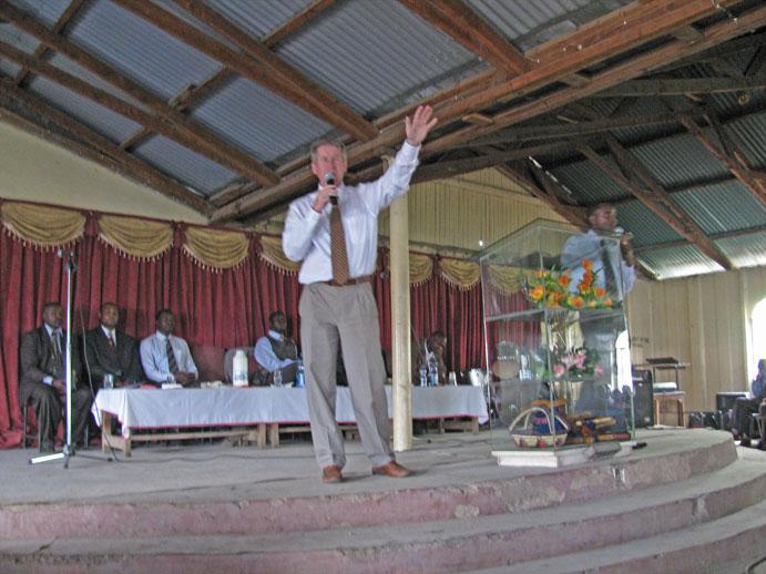 John preaching at South B