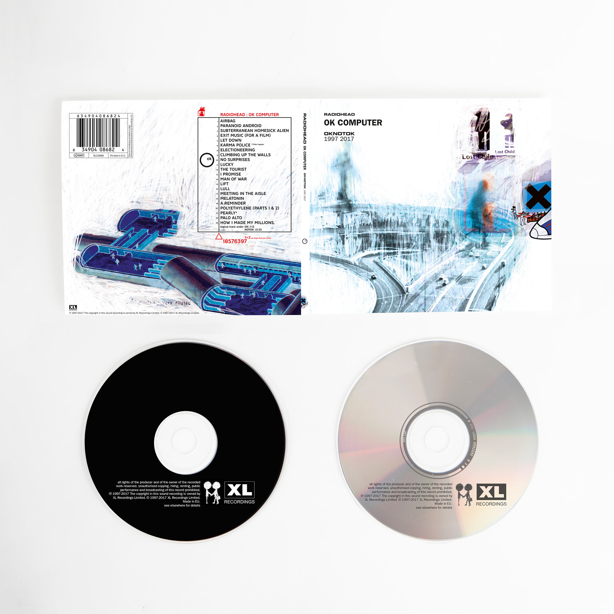 Disc 1: 01 AIRBAG 02 PARANOID ANDROID 03 SUBTERRANEAN HOMESICK ALIEN 04 EXIT MUSIC (FOR A FILM) 05 LET DOWN 06 KARMA POLICE 07 fitter happier 08 ELECTIONEERING 09 CLIMBING UP THE WALLS 10 NO SURPRISES 11 LUCKY 12 THE TOURIST  Disc 2: 01 I PROMISE 02 MAN OF WAR 03 LIFT 04 LULL 05 MEETING IN THE AISLE 06 MELATONIN 07 A REMINDER 08 POLYETHYLENE (PARTS 1 & 2) 09 PEARLY* 10 PALO ALTO 11 HOW I MADE MY MILLIONS