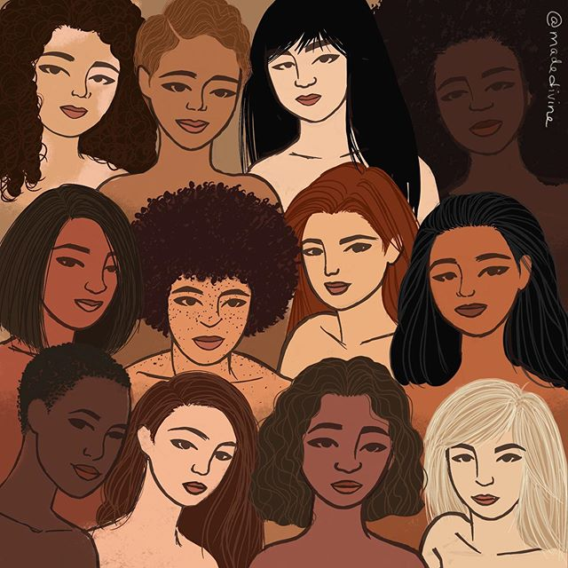 """Here's to strong women; may we know them, may we be them, may we raise them."" Happy Women's Equality Day to all my ladies breaking barriers and challenging the status quo 💁🏾‍♀️💁🏾‍♀️💁🏾‍♀️ Side note: this #illo is a side #WIP I've been messing around with...more to come ☺️ #womenofillustration #madedivine #procreate #ipaddrawing #ipadpro #womensequalityday"