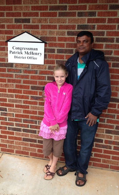 James Roy & Bethany Boyd at Congressman McHenry's Office