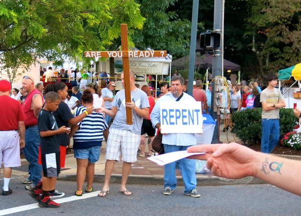 """Witnessing with a """"Dangerous Weapon"""" at a Morganton Festival"""