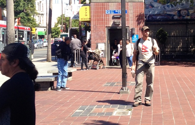 Jesse Boyd preaches at the corner of Mission & 24th in San Francisco