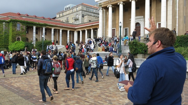 Ricky preaches at the University of Cape Town.