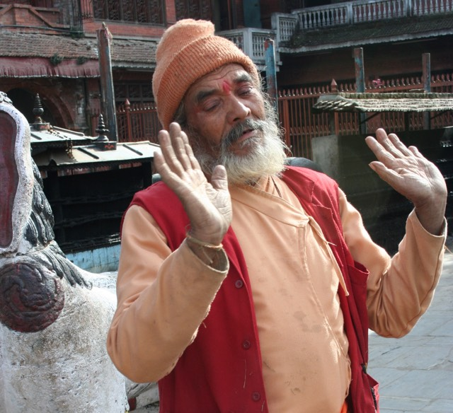 It's the dry season for this Hindu sadhu who, standing by his idols, hates Jesus Christ and wants no part of him.