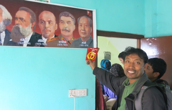 We were able to preach the Gospel and train believers inside the local Maoist Party Headquarters. Note the busts of Marx, Hegel, Lenin, Stalin, and Mao Tse Tung.