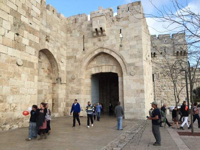 Preaching Messiah Outside the Jaffa Gate in Jerusalem