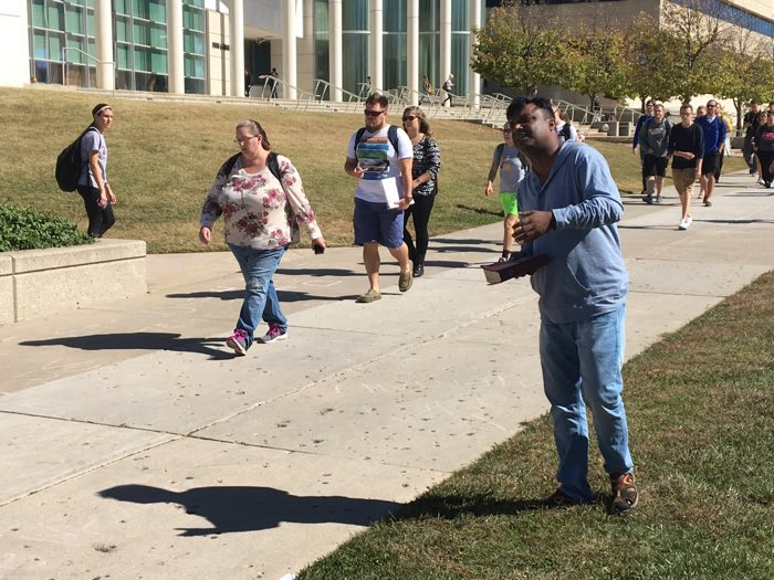 Brother James Roy preaches at Missouri State University.