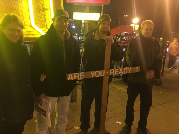 Russian believers joined us on the streets of Minneapolis.
