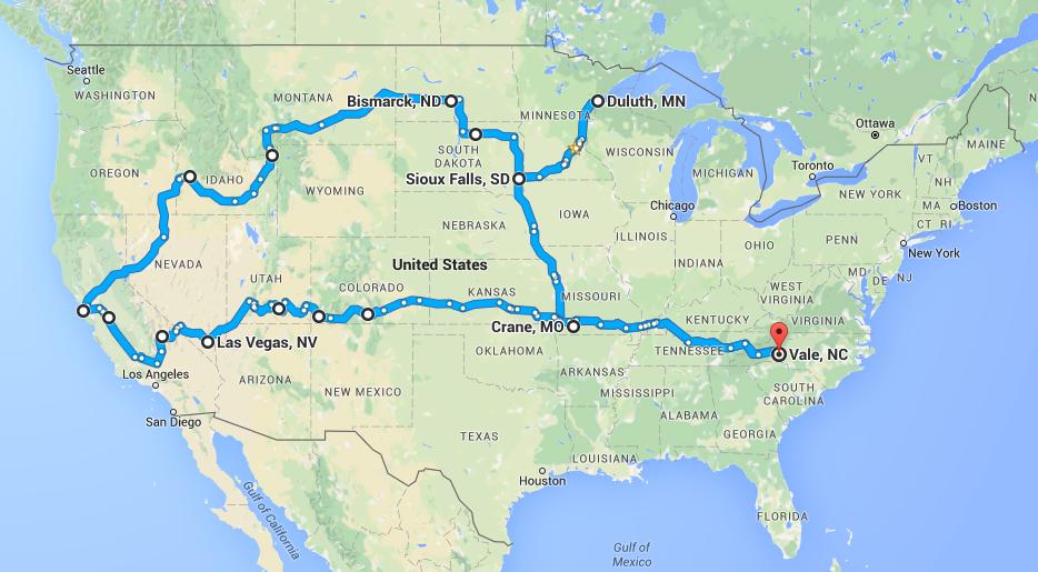Fall 2015 Preaching Circuit Route