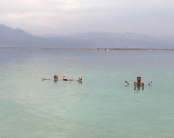 Soaking in the Dead Sea