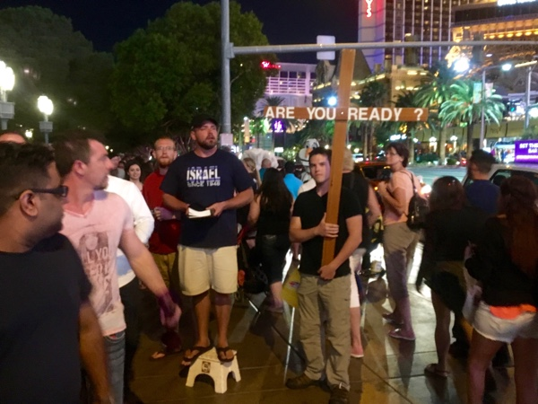 Preaching on the Las Vegas Strip