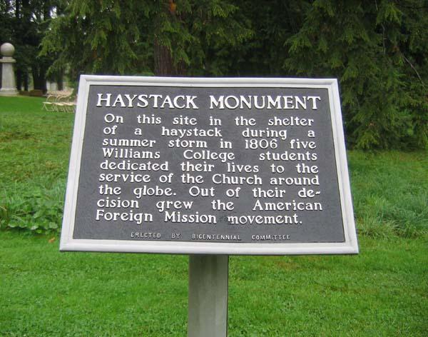 The Haystack Prayer Meeting Monument, Massachusetts