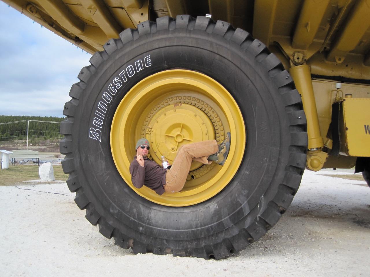 A Giant Dump Truck in Fermont, Quebec