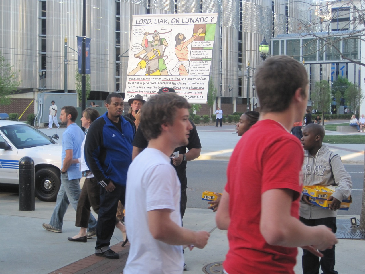 Preaching Outside a Concert in Charlotte, NC