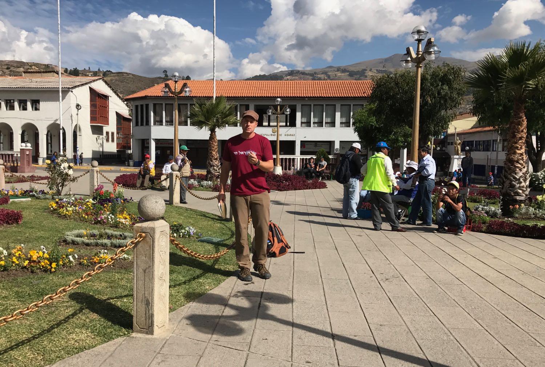 Open-air Preaching in the Plaza de Armas, Huaraz