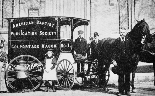 An Old American Baptist Publication Society Colportage Wagon from the Turn of the Century