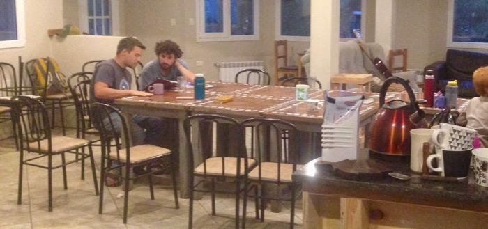 Erics surveys the New Testament with Shai after a Shabbat meal.